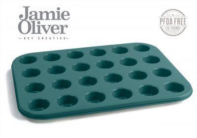JAMIE OLIVER Форма за 24 бр.мини мъфини - 35 х 27см - цвят атлантическо зелено