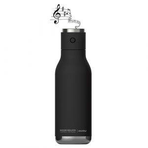 "ASOBU Двустенна термо бутилка ""WIRELESS"" с Bluetooth колонка - 500 мл - цвят черен"