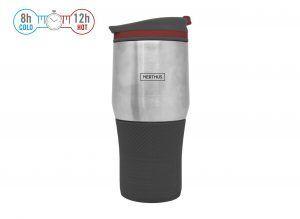 Nerthus Двустенна термо чаша - 400 мл. - черен цвят