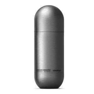 """ASOBU Двустенна термо бутилка """"ORB"""" - 420 мл - цвят инокс"""