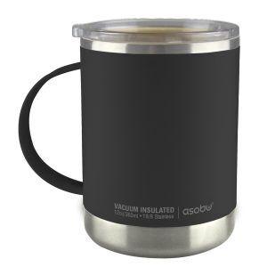 """ASOBU Термо чаша с керамично покритие """"ULTIMATE"""" - 360 мл - цвят черен"""
