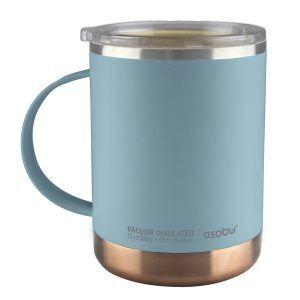 """ASOBU Термо чаша с керамично покритие """"ULTIMATE"""" - 360 мл - цвят син"""
