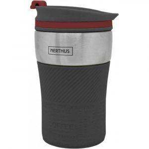 Nerthus Двустенна термо чаша - 250 мл. - черен цвят