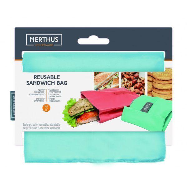 bolsa reutilizable para sandwich azul pastel 1 Марка: Vin Bouquet <br />Модел: VB FIH 739<br />Доставка: 2-4 работни дни<br />Гаранция: 2 години