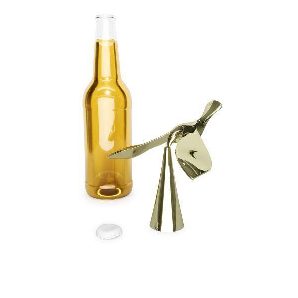 """UMBRA Отварачка за бутилки """"TIPSY""""  - цвят месинг"""