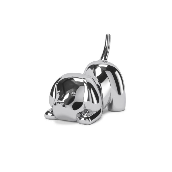 """UMBRA Поставка за пръстени """"ZOOLA PUPPY"""" - куче - цвят хром"""