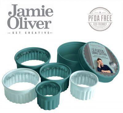 JAMIE OLIVER Комплект от 5 броя вълнообразни форми за десерти и ястия - цвят атлантическо зелено / светлосиньо