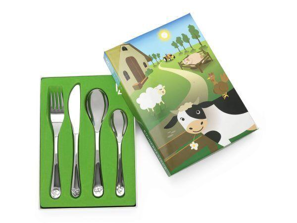 "ZILVERSTAD Комплект детски прибори за хранене ""Ферма"" - 4 части"