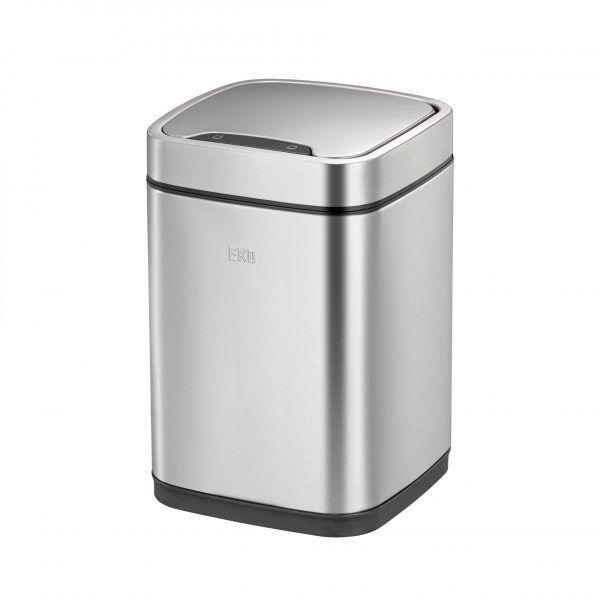 """EKO Сензорен кош за отпадъци """"ECOSMART"""" с метален капак - 6 литра - мат"""
