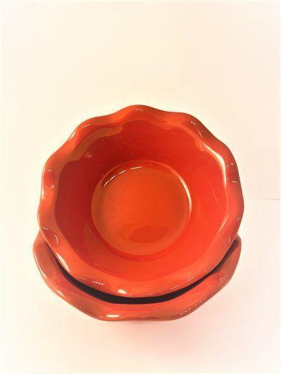 """EMILE HENRY Комплект 2 броя малки форми за пай """"2 MINI PIE DISH"""" - цвят червен"""