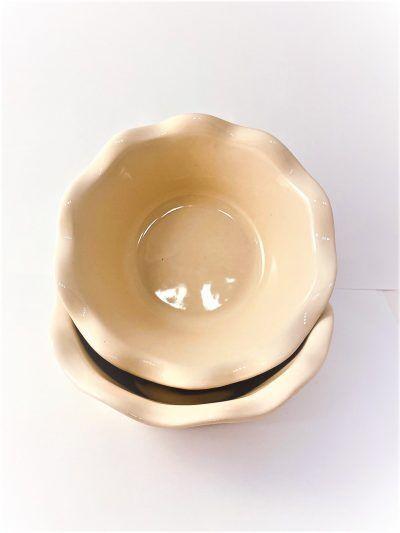 """EMILE HENRY Комплект 2 броя малки форми за пай """"2 MINI PIE DISH"""" - цвят екрю"""