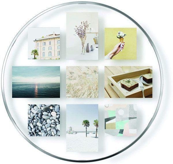 """UMBRA Колаж за снимки за стенен монтаж """"INFINITY"""" - цвят хром"""
