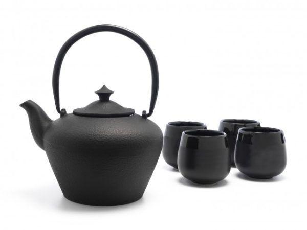 """BREDEMEIJER Подаръчен сет за чай """"Chengdu"""" - 5 части - черен"""