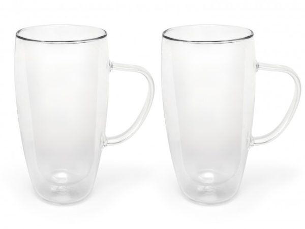 BREDEMEIJER Сет от 2 двустенни стъклени чаши с дръжка за Cappuccino/Latte Macchiato - 400 мл.