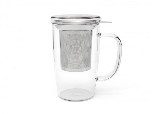 """BREDEMEIJER Стъклена чаша за чай с филтър и капак """"Veneto"""" - 530 мл."""