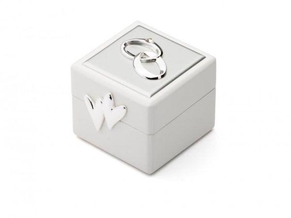 ZILVERSTAD Луксозна кутия със посребрени елементи за венчални халки