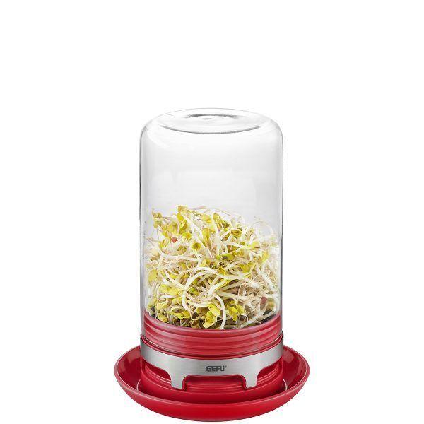 """GEFU Уред  / система за покълване на семена """"BIVITA"""" - цвят малинено червен"""
