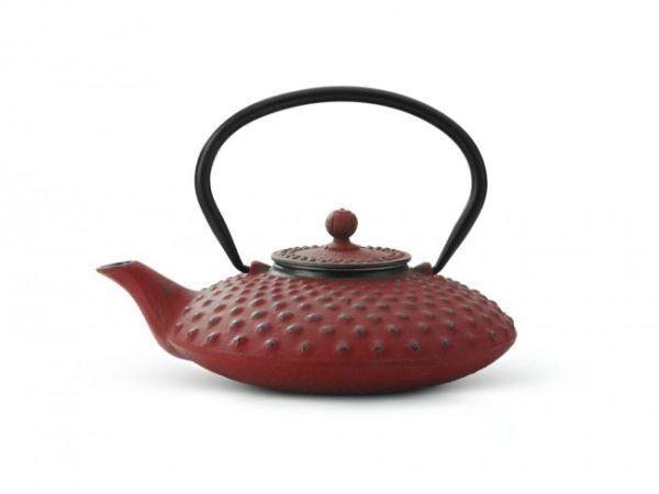 "BREDEMEIJER Чугунен чайник ""Xilin"" - червен - 0.8 л."