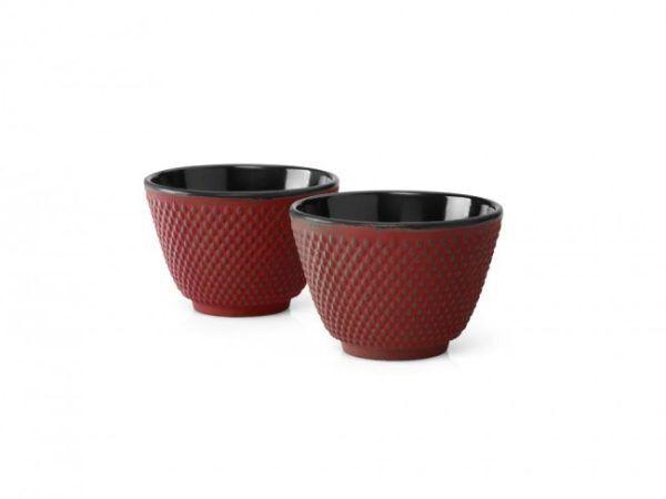 """BREDEMEIJER Сет от 2 чугунени чаши за чай """"Xilin"""" - червени"""