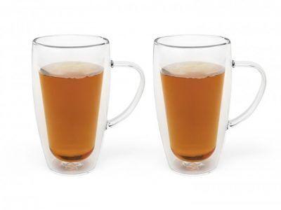 Bredemeijer Сет от 2 двустенни стъклени чаши за кафе и чай - 320 мл.