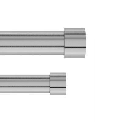 "UMBRA Двоен корниз ""CAPPA"" - цвят никел - размер 91-167 см."